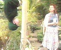 Rimmer talks to mummy upside down