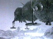 Starbug lands on an icy planet