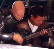 Lister is helped by mother Kryten