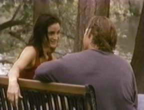 Tom and Karin (Carrie Ann Moss) in Tom's mind