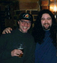 Chris Bould and Jon (one of the writers of Midsummer's Nightmare) in the Punch and Judy pub in London - Picture is copyright (c) 2002 by Leif Eriksson