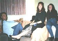 Sad, sleeping Sally, Cykat and Rachel